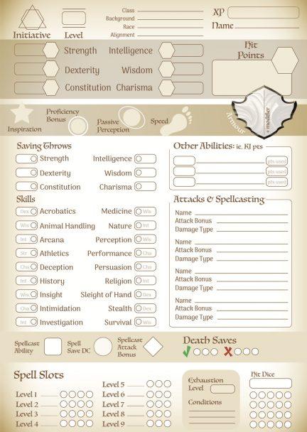 5e Character Sheets