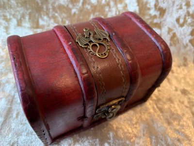 Dragon Treasure Chest, Dice Box, Dice Tray, Trinket Box for Dungeons and Dragons RPG