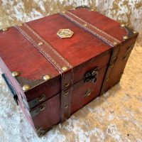 Large Treasure Chest, Dice Box, Dice Tray, Trinket Box for Dungeons and Dragons RPG